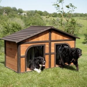 Extra-large-solid-wood-dog-house-for-two-dogs