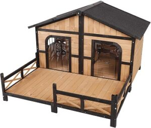 PawHut-Wooden-Large-Dog-House-with-deck