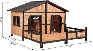 PawHut-Wooden-Large-Dog-House-dimension