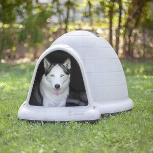 Petmate-indigo-igloo-dog-house-durable-washable