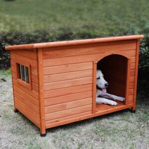 ROCKEVER-wood-insulated-dog-house