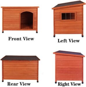 ROCKEVER-wood-insulated-dog-house-side-views