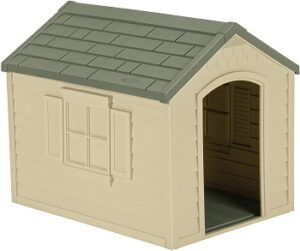 Suncast-Outdoor-Dog-House-with-Door