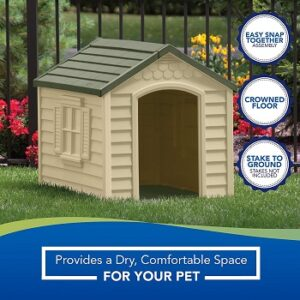 Suncast-Outdoor-Dog-House-with-Door-easy-assembly